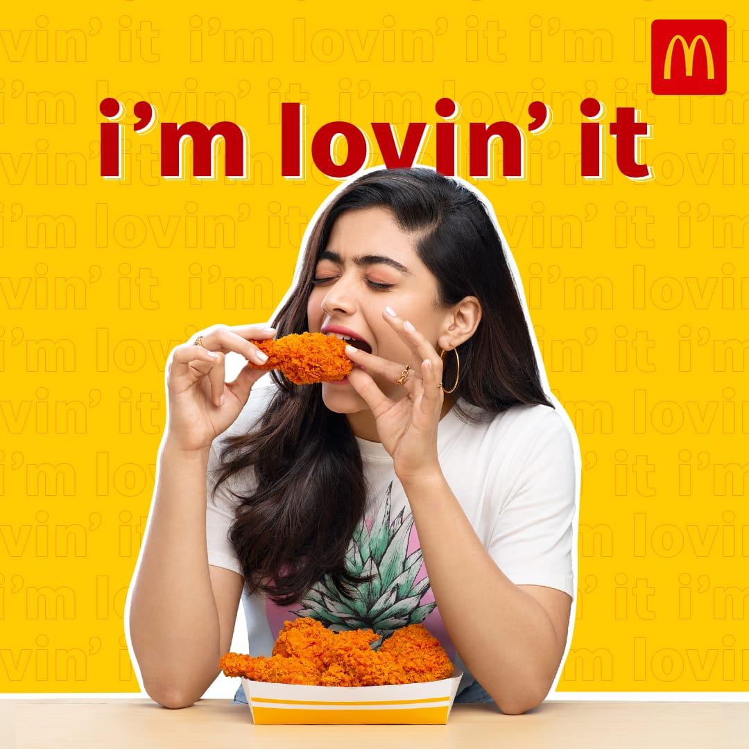 McDonald's India's new brand ambassador is Rashmika Mandanna