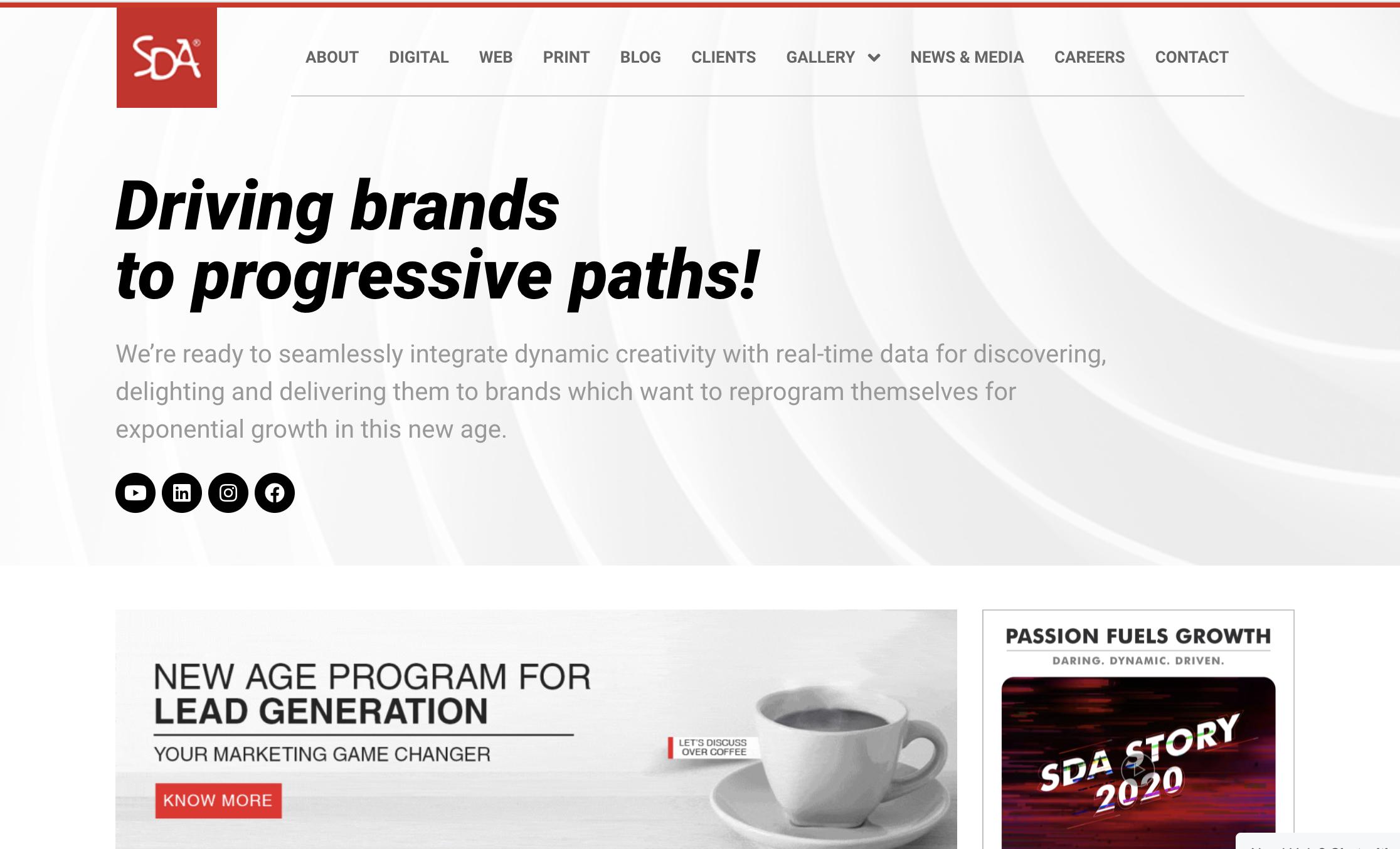 Spicetree Design Agency (SDA), an integrated digital marketing venture.