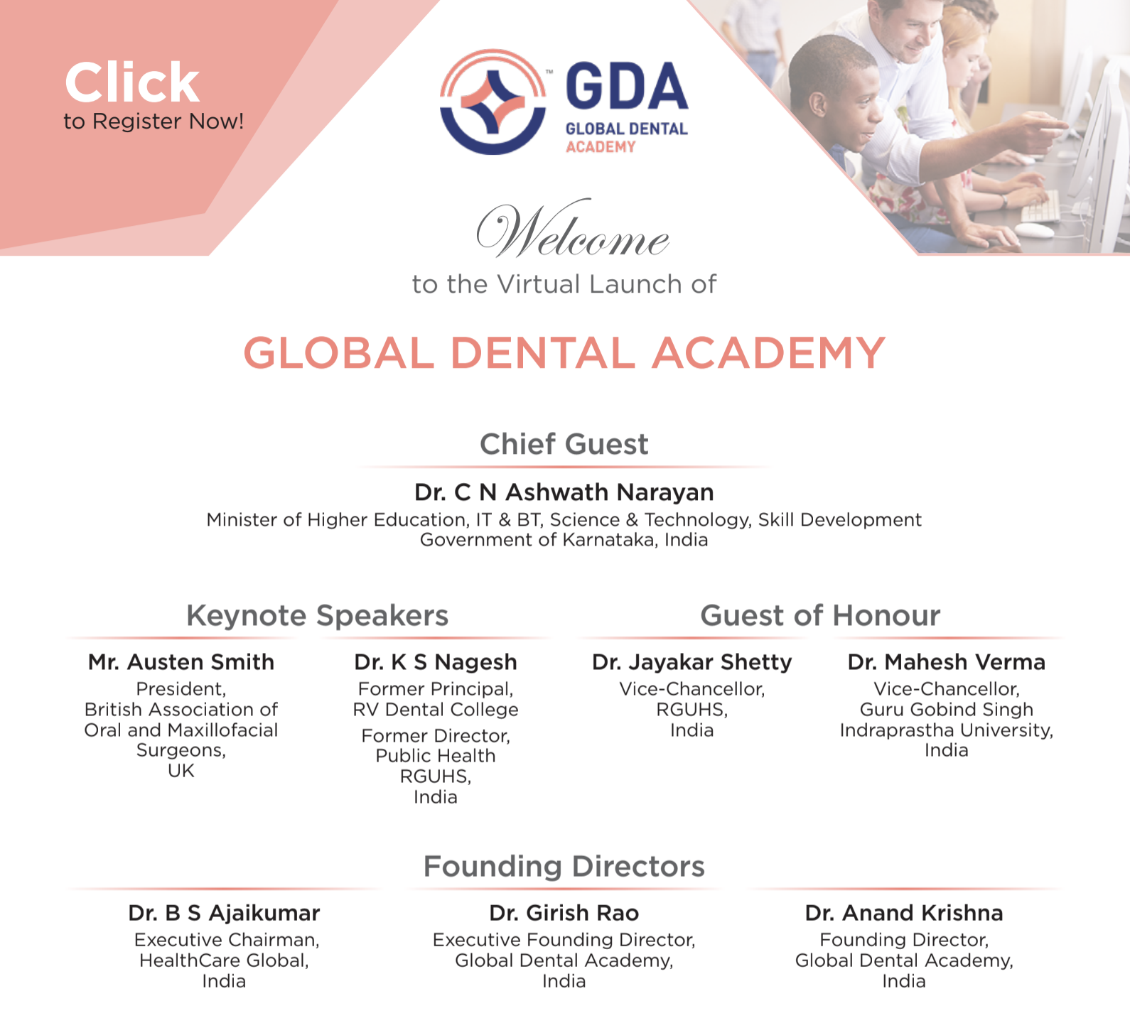 Global Dental Academy (GDA) virtual launch by Global Healthcare Academy (GHA)
