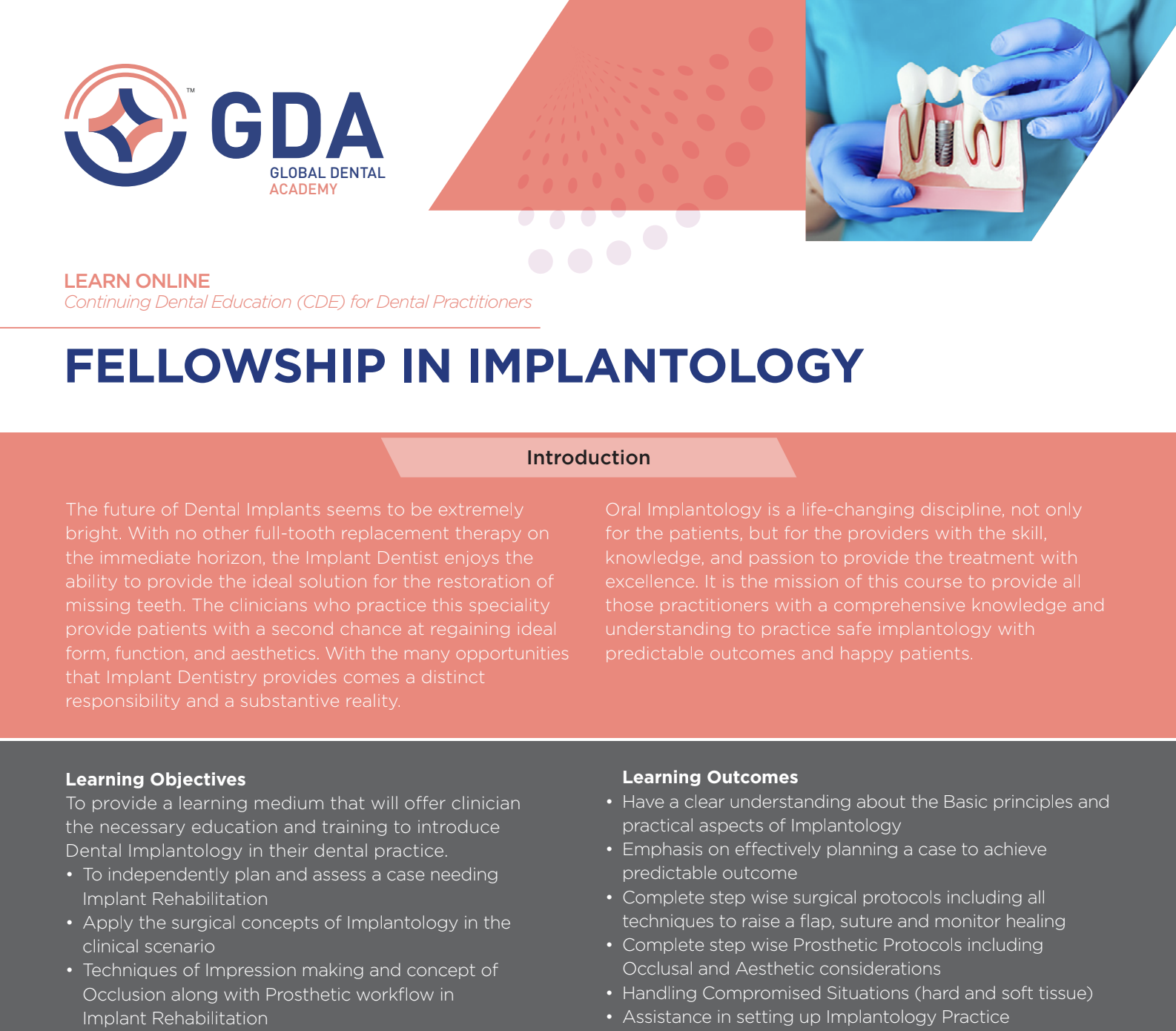Fellowship in Implantology by Global Dental Academy (GDA)