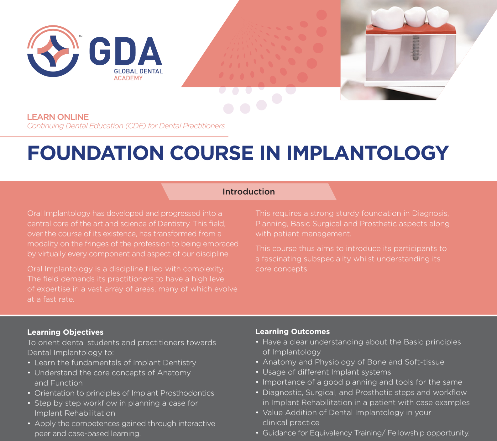 Foundation Course in Implantology by Global Dental Academy (GDA)