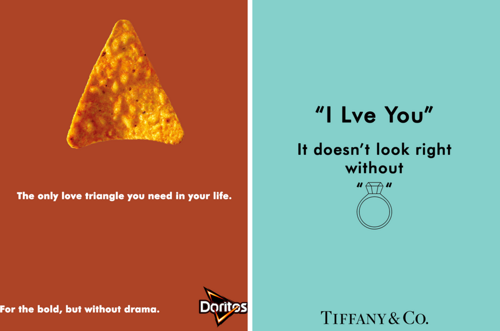 Excellent work by the copywriter of Doritos and Tiffany & Co.