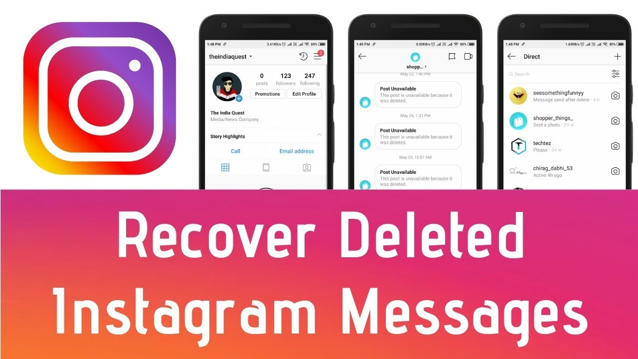 Ways To Recover Deleted INSTAGRAM MESSAGES