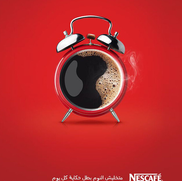 Beautiful, simple and creative Nescafe print ad